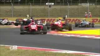 GP3 2015. Hungaroring. Fuoco and Bernstorff Contact