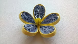 3D Quilling Tutorial How to make 3D Quilling Flower -Paper quilling Art Flower