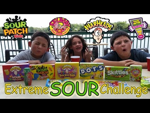 WARHEADS EXTREME SOUR CHALLENGE Sour Patch Kids Sour Skittles Cry Baby Sour Dots Warhead Candy