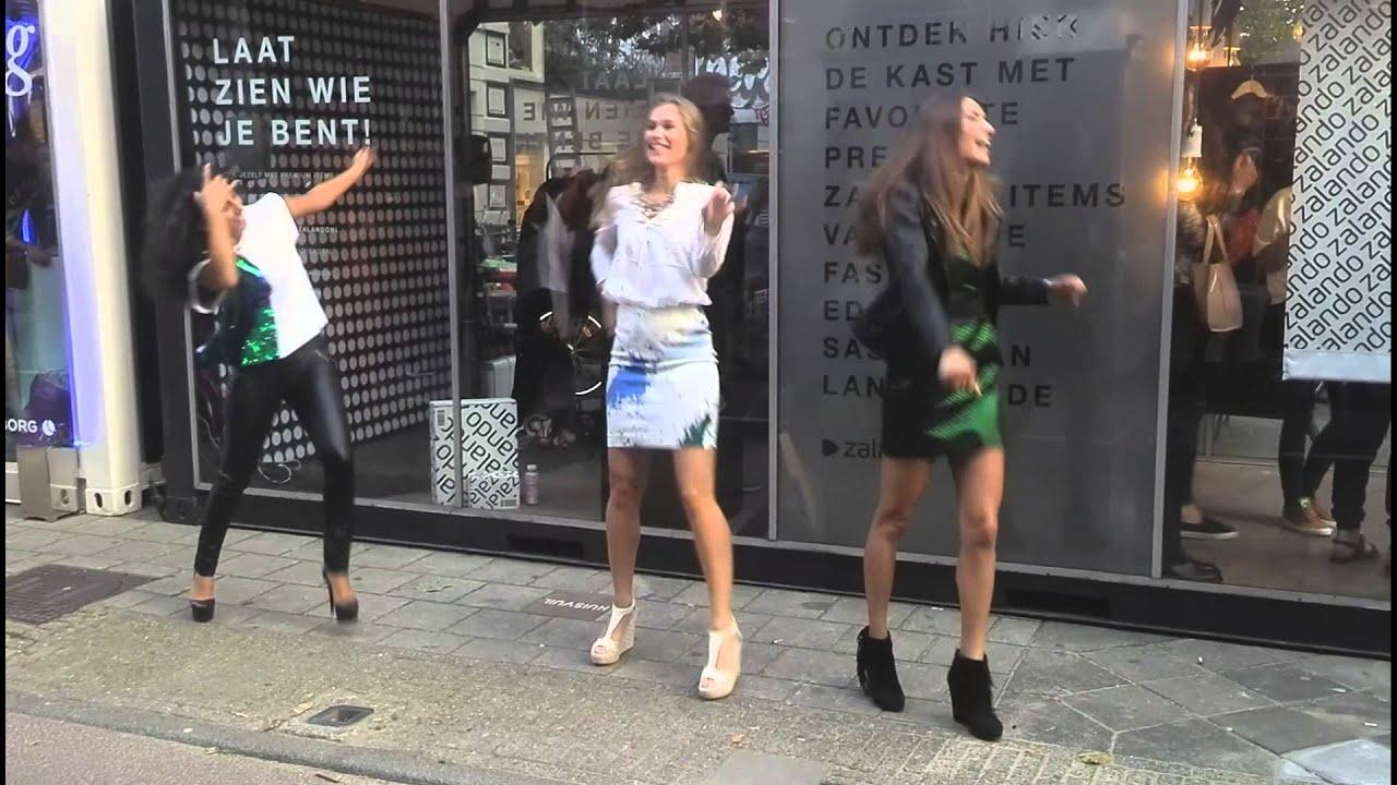 Zalando reclame meisjes.. op de VFNO - YouTube