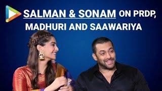 Salman Khan   Sonam Kapoor   Prem Ratan Dhan Payo   Full Interview   Madhuri Dixit   Bhansali