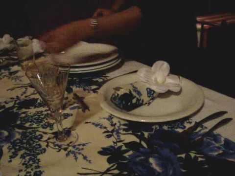 Arrumar mesa para jantar informal