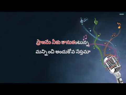 Veyi Kannulatho Vechi Chustunna Telugu Karaoke Song With Telugu Lyrics