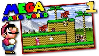 Mega Mario World - F.L.U.D.D., Submarine, & More! - Rom Hack 1