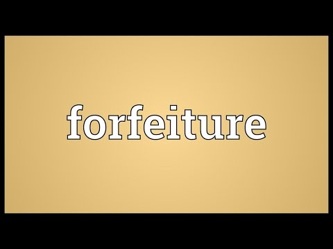 Header of forfeiture