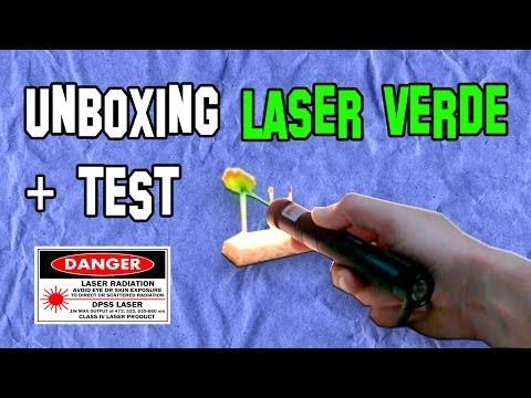 Unboxing Láser Verde 200 mW + Test - Experimentos Caseros