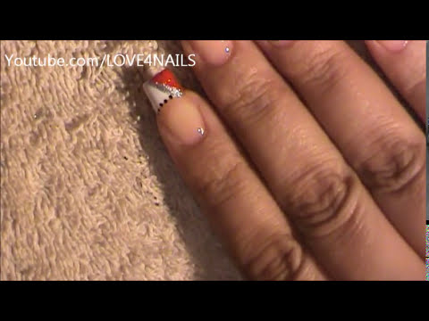 Painting My Dominant Hand French Manicure How To Flower Nail Art Tutorial