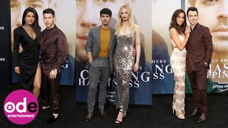 Jonas Brothers arrive for Chasing Happiness premiere