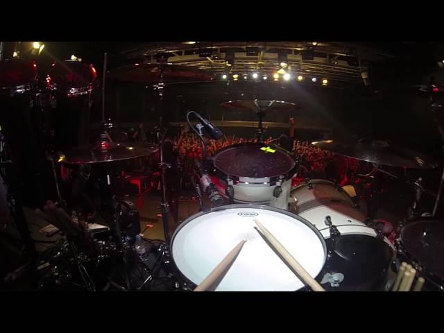 Merlin Sutter (Eluveitie) - POV GoPro Drum Cam, Neverland Live In Zug, 2014