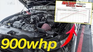 VMP pulls 900whp out of my Mustang on LOW BOOST!!