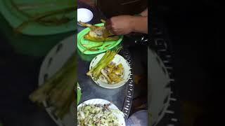Gà nướng đất sét phần 4 (lên dĩa)