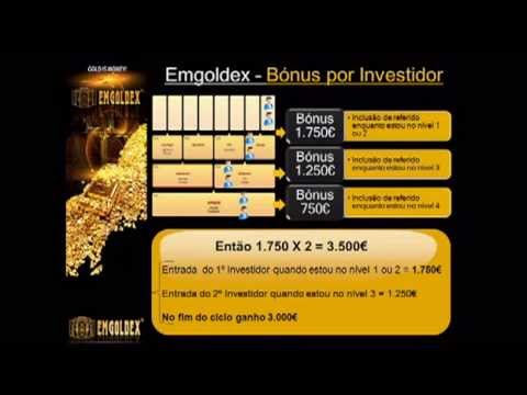 Emgoldex, Investimento em Barras de OURO - Portugues