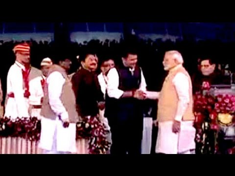 Maharashtra's first BJP government takes oath
