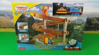 Thomas the tank engine Spiral Train Run UNBOXING with CJ -Thomas and Friends Take N' Play Set