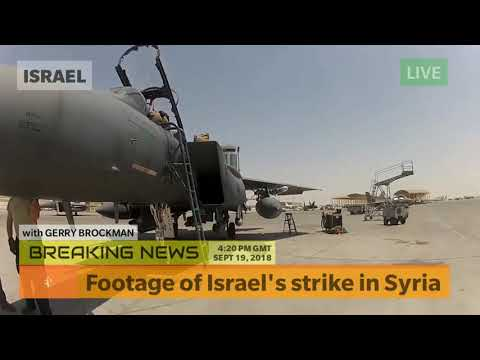 Footage of Israel's strike in Syria - Breaking NEWS Today