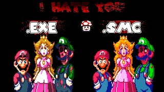 I HATE YOU (Creepypasta Mario) .exe vs ROM HACK comparison