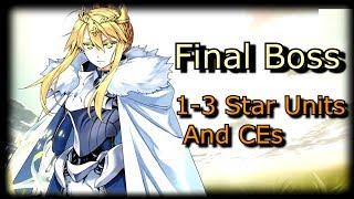Camelot Final Boss: Goddess of Rhongomyniad - 1-3 Stars Only [FGO]