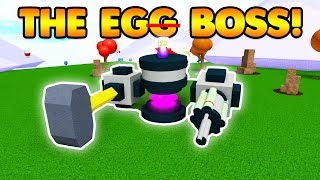 DEFEATING THE EGG BOSS!   Build A Boat For Treasure ROBLOX