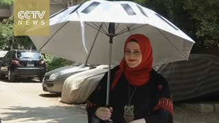 Solar-powered umbrella developed for Hajj pilgrims