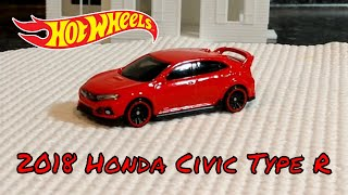 2019 Hot Wheels H Case #171 - 2018 Honda Civic Type R - New Model