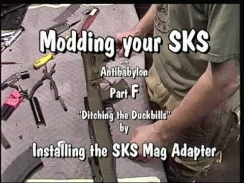 SKS Mods part F  installing the sksMagAdapter for modded Tapco 20 rounders