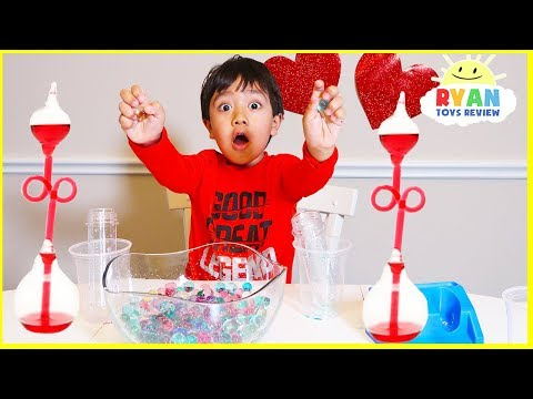 Top Science Experiments for kids to do at home for Valentine with Ryan ToysReview