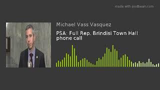 PSA: Full Rep. Brindisi Town Hall phone call