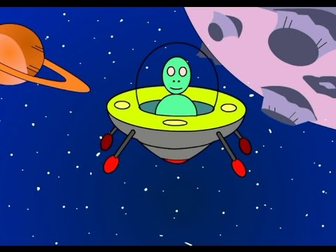 Cartoon about a space rocket! Learn to count from 1 to 10!