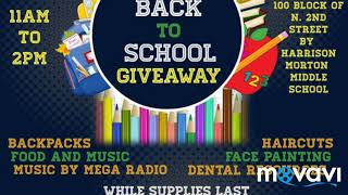 Puerto Rican Cultural Preservation  Back to School Giveaway Block Party