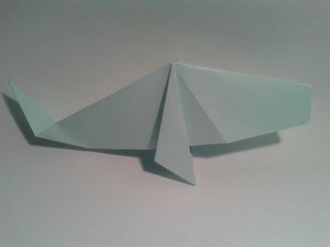 Origami para principiantes: #10 Como hacer una ballena de papel facil