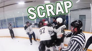 FIGHT in our FIRST GAME?... | GoPro Hockey | Beer League S1G1