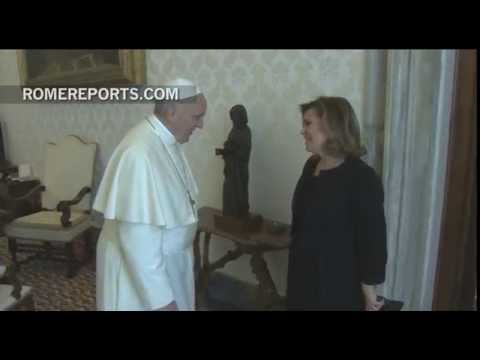 Pope Francis meets with the Grand Duchess of Luxembourg