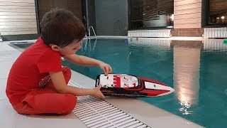 Surprise Toys Unboxing fun Robocar Poli RC Speed Boat Family fun Playtime Toys video for kids