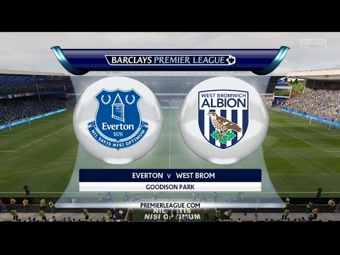 Everton vs West Brom - Barclays Premier League - FIFA 15 PS4 Gameplay