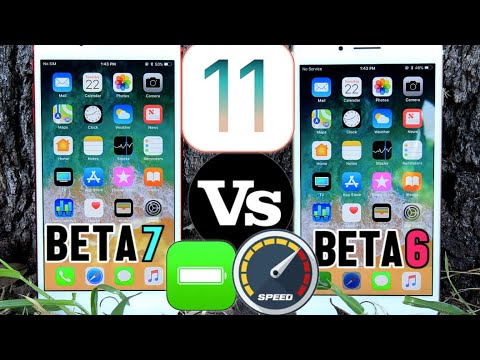iOS 11 Beta 7 Vs Beta 6 (Battery & Performance Test) Which one Wins? Must Watch!