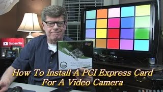 How To Install A PCI Express Card For A Video Camera | Syba Low Profile PCI-Express