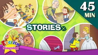 Cinderella, Snow White+More Kids Stories | Learn English for Kids | Collection of Easy Story