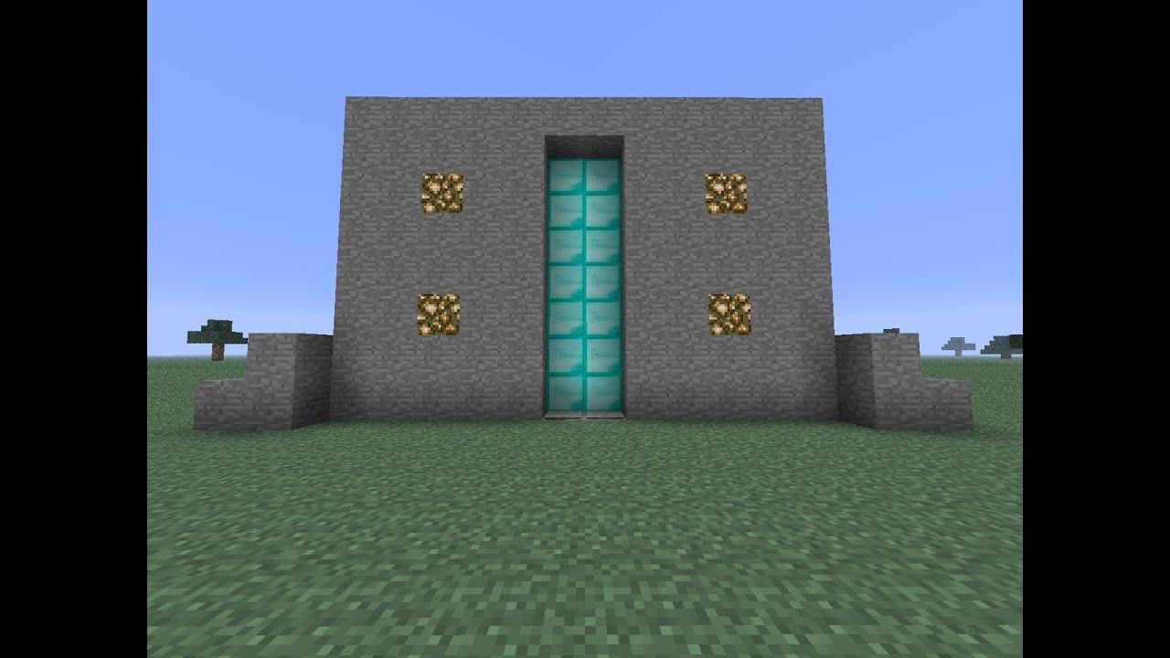 Piston Door Piston Door Minecraft
