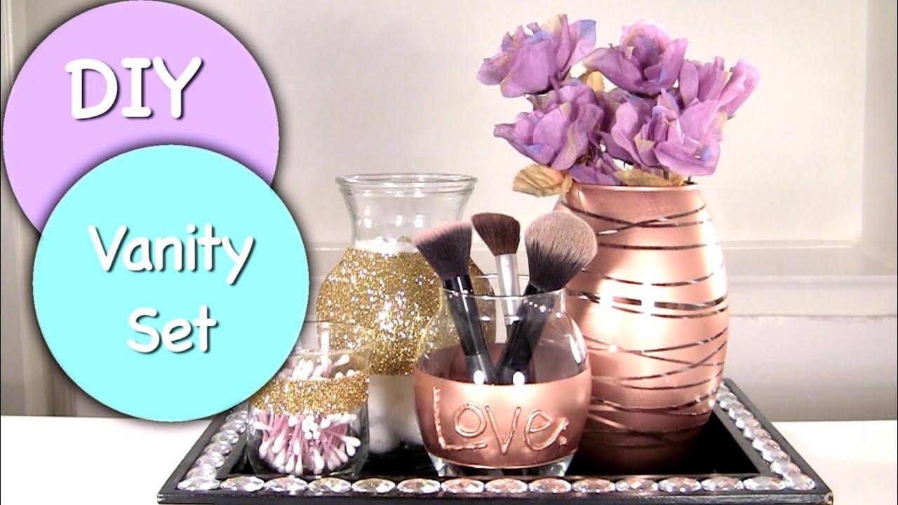 Diy Vanity Amp Makeup Storage Set Diy Makeup Brush Holder