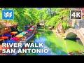River Walk in San Antonio, Texas USA 2020 Travel Guide - Virtual Walking Tour 🎧  Binaural Sound【4K】