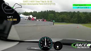 Canaan motorsports club Time Trials EVO 9