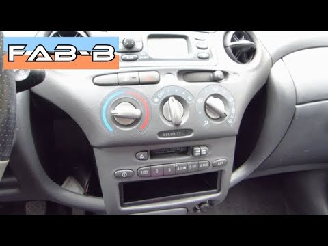 Installation autoradio Toyota Yaris 1
