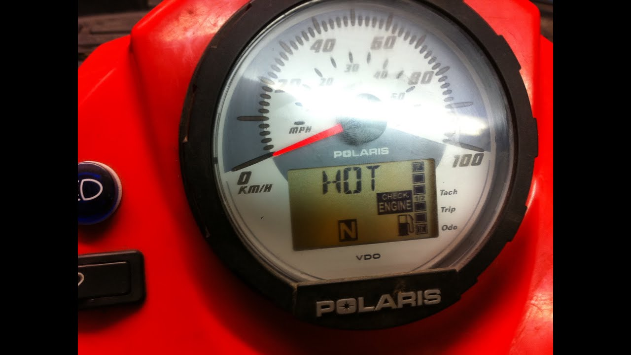 polaris sportsman ho hot check engine