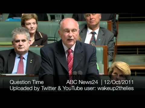 "Warren Truss ""Tyranny has come to Australia this day"" No carbon tax"