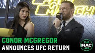 Conor McGregor announces January 18 for UFC return fight; eyeing Diaz & Khabib rematches in 2020