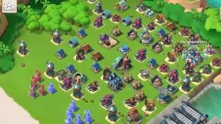 Boom Beach — My base was raided by Hajen, 强哥小乐乐; 180+255k, 6 boosted ice