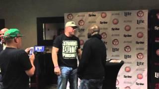 King Mo confronts Tito Ortiz at Bellator Fan Fest Houston