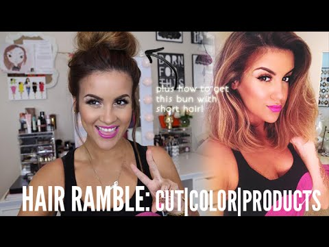 Hair Ramble: Cut | Color | Products | Short Hair Bun