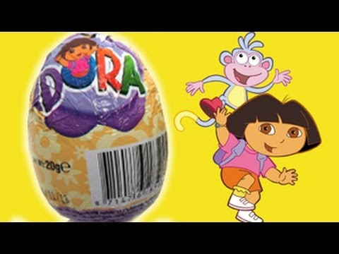 3 DORA THE EXPLORER Toy Kinder Surprise Eggs Unboxing gift Chocolate toy Dora la exploradora