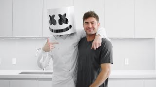 Download Song Marshmello & Zac Efron Make A Delicious Portobello Steak & Eggs Breakfast | Cooking with Marshmello Free StafaMp3